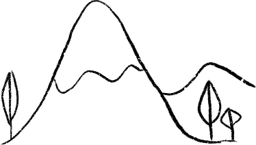 Hand-drawn image of a mountain-top.