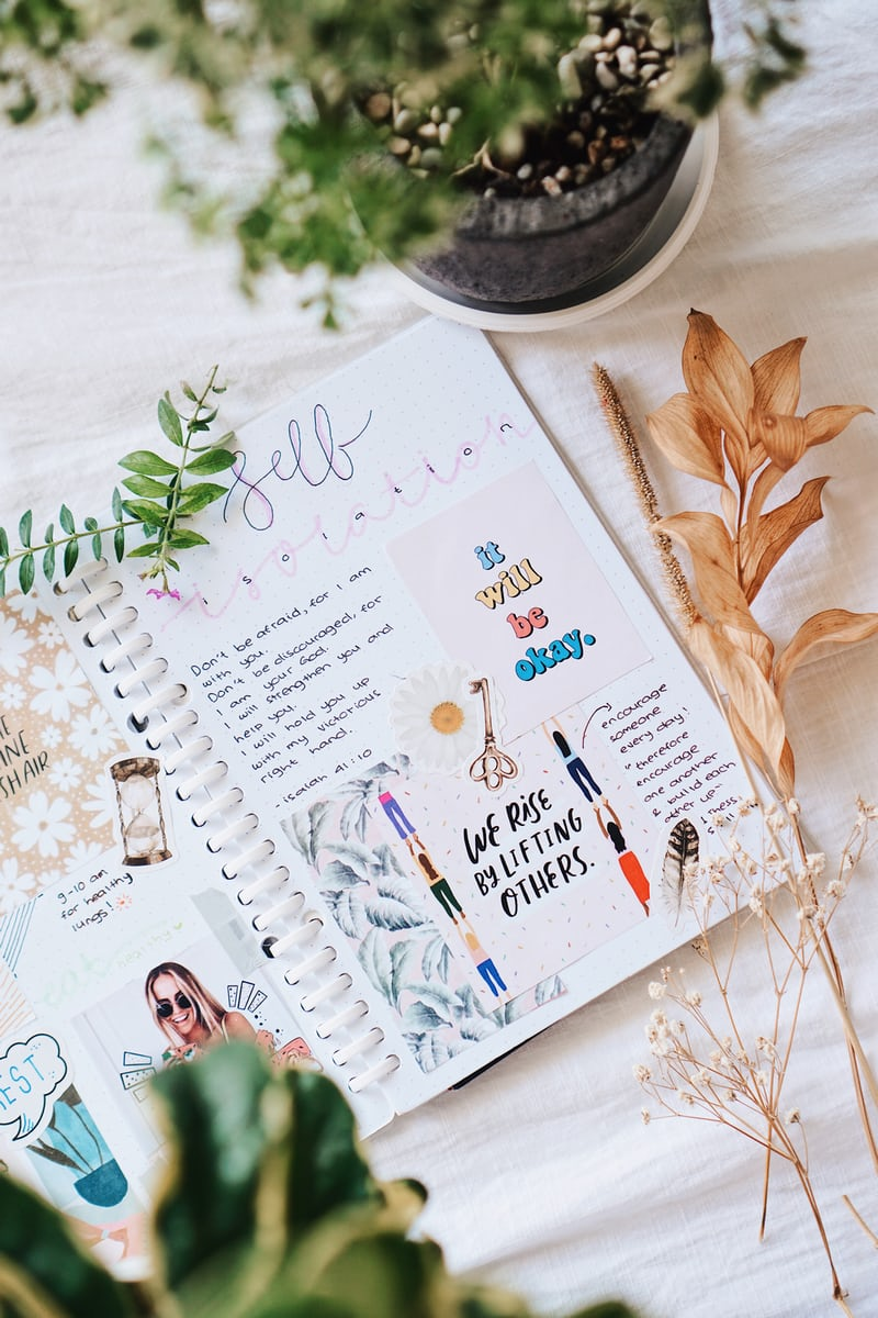 Bullet journal for self-reflection and mindfulness.